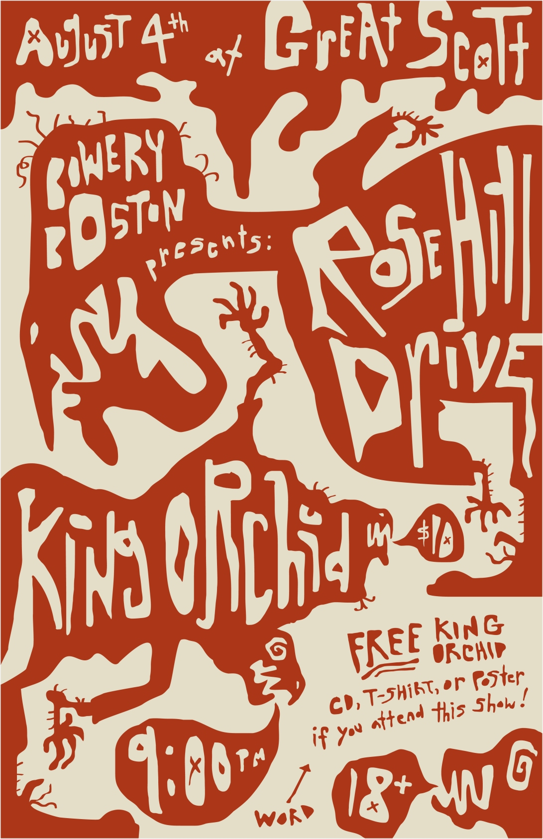 King Orchid - show flier