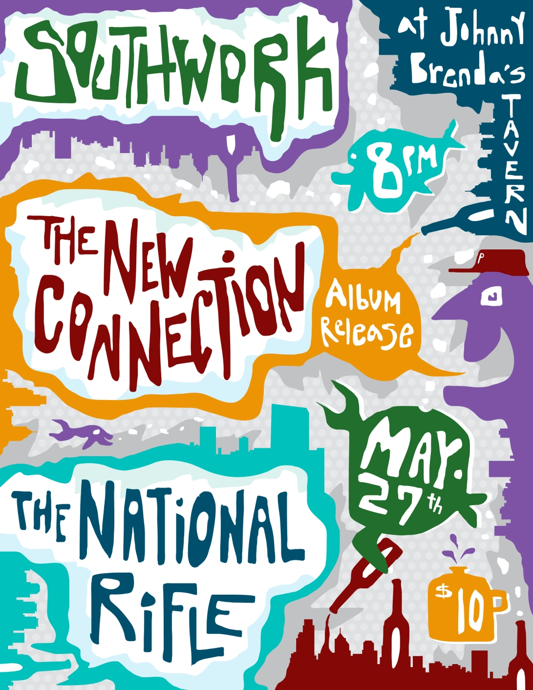 The New Connection - show flier