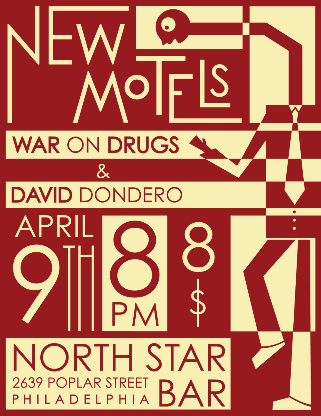 New Motels - show flier